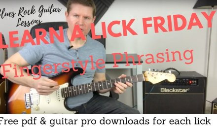 Learn a Lick Friday – Fingerstyle Phrasing