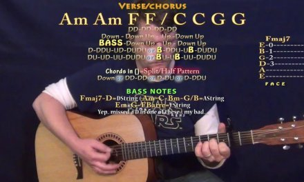 Despacito (Luis Fonsi) Guitar Lesson Chord Chart – Capo 2nd – Am F C G with TAB