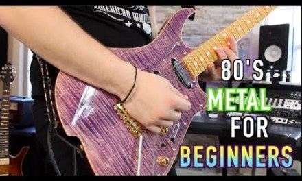 5 80's Metal Riffs For Beginners! ( With Tabs)