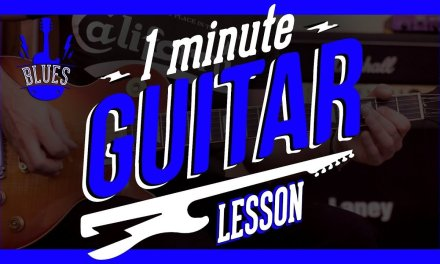 One Minute Guitar Lesson  – Blues Guitar  – Crossroads Intro by Cream Eric Clapton – (2018)