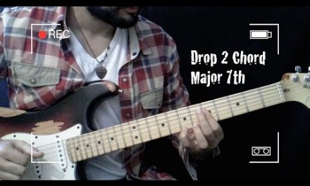 Jazz Guitar Chord – Drop 2 Chord Major 7th [[Guitar Lesson #9]] Part.2