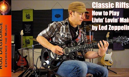 Classic Riffs Guitar Lesson Tutorial How to Play Livin' Lovin' Maid by Led Zeppelin