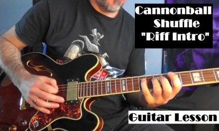 """Cannonball Shuffle Guitar intro """"Robben Ford"""""""