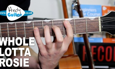 AC/DC Whole Lotta Rosie Guitar Lesson Tutorial – How to play