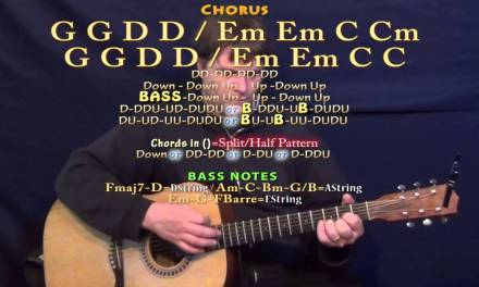 Head Over Boots (Jon Pardi) Guitar Lesson Chord Chart