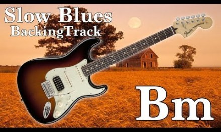 Slow Blues Guitar Backing Track in Bm
