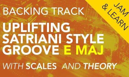 Backing Track: Uplifting Satriani style Groove E maj