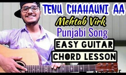 Tenu chahauni aa – mehtab virk – easy guitar chord lesson, beginner guitar tutorial, guitar cover