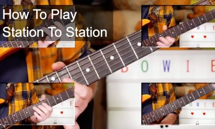'Station To Station' David Bowie Guitar Lesson