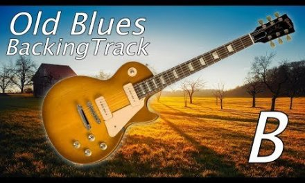 Slow Old Blues Guitar Backing Track in B