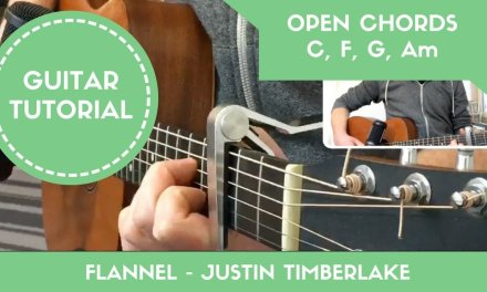 Flannel – Justin Timberlake // EASY Guitar Song Lesson Tutorial (Open Chords)