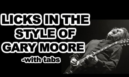 Gary Moore inspired licks and devices guitar lesson with tabs