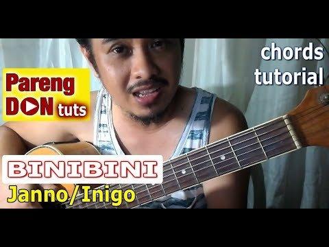 Binibini chords guitar tutorial (Janno Gibbs and Inigo Pascual ...
