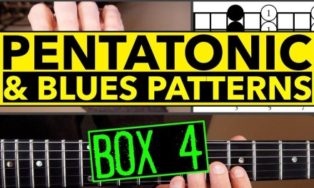 How To Play Minor Pentatonic Scale And Blues Scale Guitar Lesson Box 4
