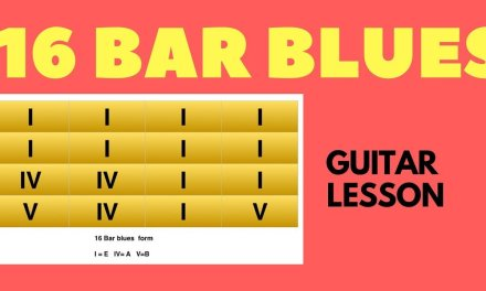 16 Bar Blues Guitar Lesson with Tabs