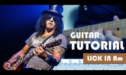 Must know Slash style solo guitar lick lesson with scales + tab EP02