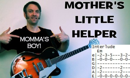 how to play Mother's Little Helper by Rolling Stones guitar lesson chords & tab