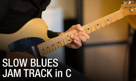 Slow Blues Backing Track For Guitar 62 bpm
