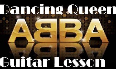 Dancing Queen – acoustic guitar lesson – ABBA