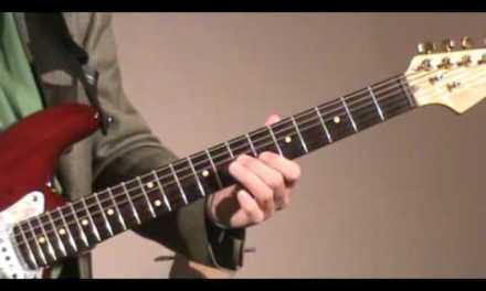 Guitar lesson – Slow G blues – Solo 3