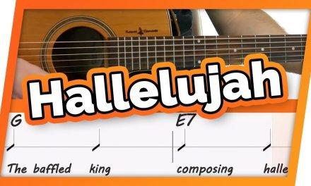 Hallelujah Guitar Tutorial // Easy Chords Play Along