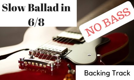 Soulful Slow Ballad in 6/8 NO BASS backing track
