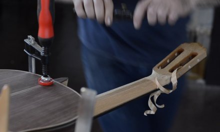 Carving Classical Guitar Neck with Drawknife and Spokeshave