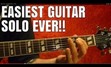 EASIEST GUITAR SOLO EVER!! Guitar Lesson