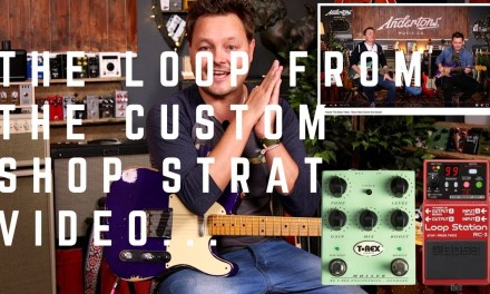 The 3 Easy Chords Loop From Our Fender Custom Strat Video – Plus Tips For Looping and Improvisation