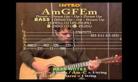 Love Song (Cure/311) Guitar Cover Lesson Strum Chord with Lyrics on Screen