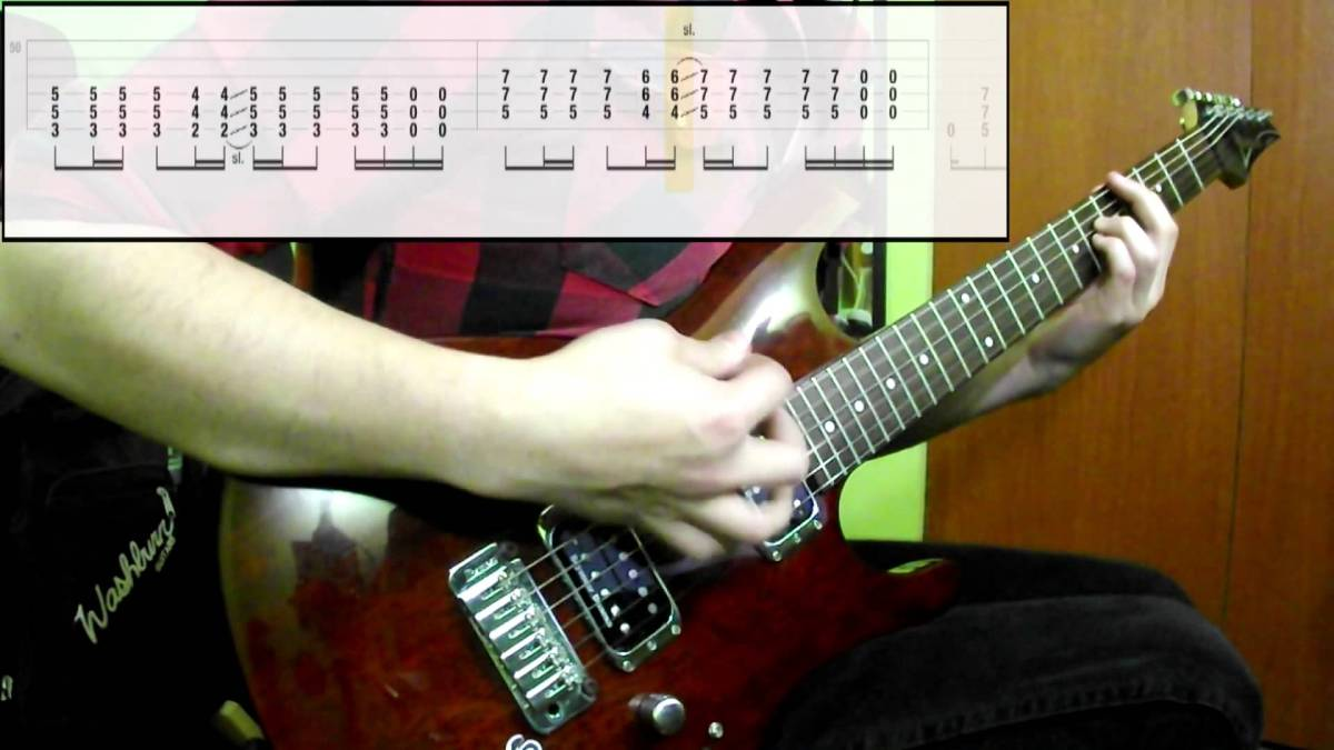 Muse Hysteria Guitar Cover Play Along Tabs In Video The Glog