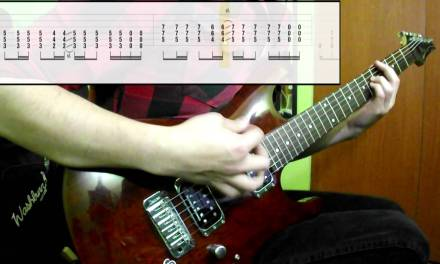Muse – Hysteria (Guitar Cover) (Play Along Tabs In Video)