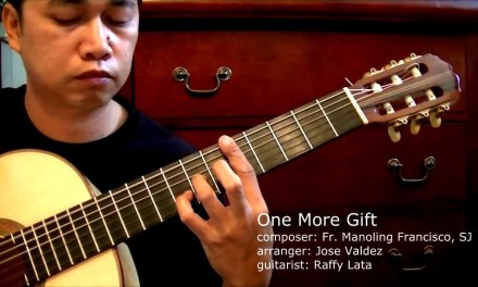 One More Gift – M. Francisco, SJ (arr. Jose Valdez) Solo Classical Guitar