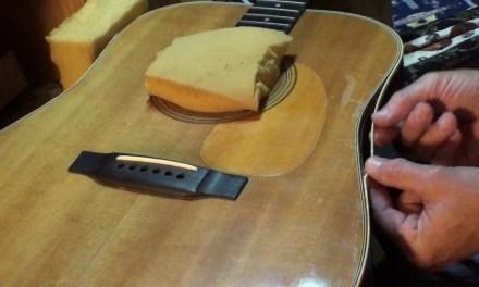 Guitar binding repair Martin d28 by Randy Schartiger