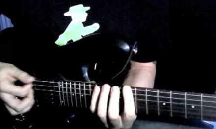 "Milan Polak Guitar Lesson #4 – ""Murphy's Law"" solo pt.2 (alt. picking, 3 octave blues scale run)"