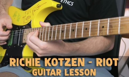 "Richie Kotzen FAST Finger Picking | ""Riot"" Guitar Lesson"