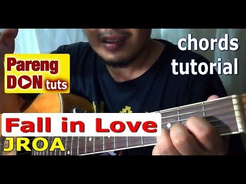 chords of FALL IN LOVE JROA guitar tutorial for beginners | The Glog