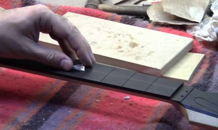 Inlaying the fretboard
