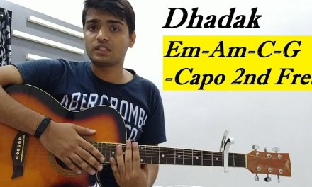 Dhadak song || Guitar Lesson || Tutorial || Guitar cover and chords || By Acoustic_Savn