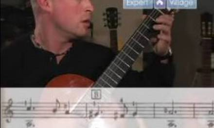 How to Play the Classical Guitar for Beginners : Playing Greensleeves on Classical Guitar