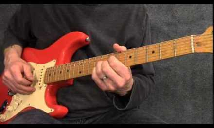 Slow blues rhythm guitar in E in the style of Hollywood Fats – BR010