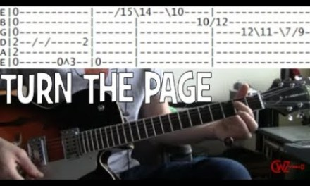 Tab for Turn the Page by Bob Seger Guitar chords lesson covered by Metallica
