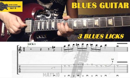 Blues Guitar Lesson – 3 Cool Blues Licks in A – GUITAR LESSON with TABS