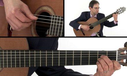 Beginner Classical Guitar Lesson – Milan Pavan Chordal Passage Performance