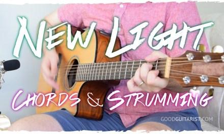 'New Light' Guitar Tutorial (Chords & Strumming) | John Mayer
