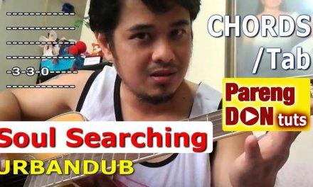 Chords and Tab Soul Searching Urbandub Guitar Tutorial