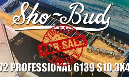 Pedal Steel Guitar Auction Block: '72 Sho~Bud Professional 6139 3×4