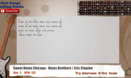 Sweet Home Chicago – Blues Brothers / Eric Clapton Guitar Backing Track with chords and lyrics