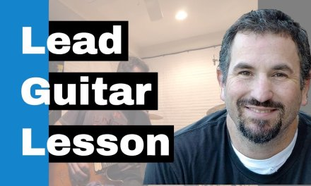 Lead Electric Guitar Lesson – Funky 2 String Hammer On Pull Off
