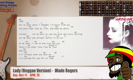 Lady (Reggae Version) – Wade / Rogers Guitar Backing Track with chords and lyrics